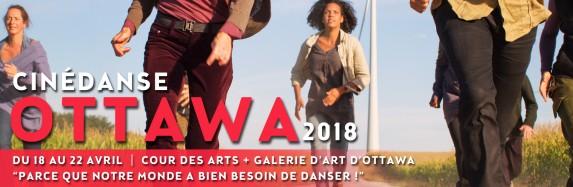 La troisième édition de Cinédanse à Ottawa du 18 au 22 avril 2018! Entry Call for Cinédanse Ottawa 2018 Opens Now!